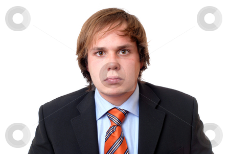 Young stock photo, Young business man in a white background by Rui Vale de Sousa
