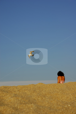 Leaving stock photo, Girl on the sand by Rui Vale de Sousa