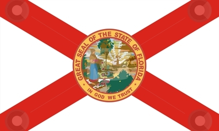 Florida Flag stock photo, Very large 2d illustration of Florida Flag by Tudor Antonel adrian