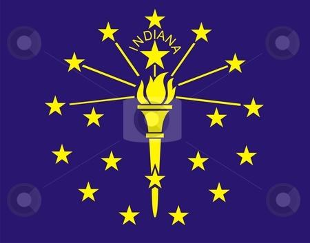 Indiana Flag stock photo, Very large 2d illustration of Indiana Flag by Tudor Antonel adrian