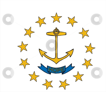 Rhode Island Flag stock photo, Very large 2d illustration of Rhode Island Flag by Tudor Antonel adrian