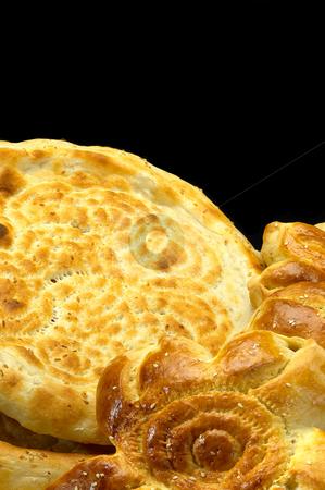 Uzbek bread stock photo, Fresh just made traditional uzbek bread close up by Francesco Perre