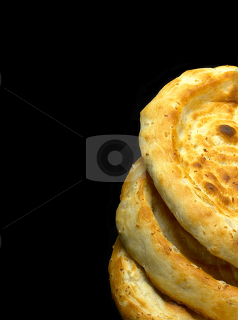Uzbek bread stock photo, Fresh just made traditional uzbek bread close up by Francesco Perre