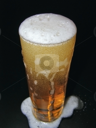 Glass of beer stock photo, The glass of cold beer by Sergej Razvodovskij