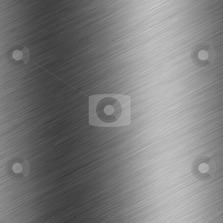 Brushed aluminum  stock photo, A brushed metal background texture - great art element for any design. by Todd Arena
