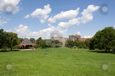 Hartford Skyline stock photo, The Harford Connecticut city skyline as seen from Bushnell Park. by Todd Arena