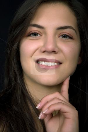 Close-up stock photo, Young beautiful woman portrait, studio picture by Rui Vale de Sousa