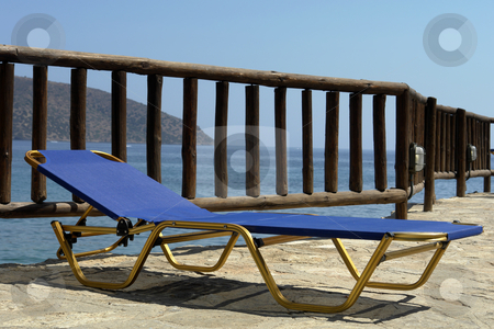 Chair stock photo, Hotel chair in the island of crete, greece by Rui Vale de Sousa