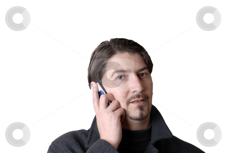 Calling stock photo, Young casual man on the cell phone by Rui Vale de Sousa