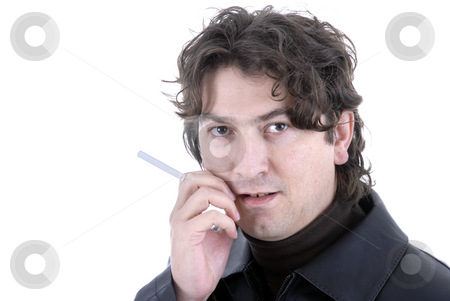 Casual stock photo, Casual young man portrait posing with cigarette by Rui Vale de Sousa