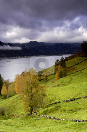 Lake stock photo, Autumn lake by Rui Vale de Sousa