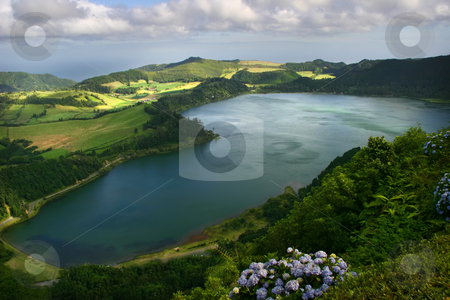 Lake stock photo, Azores lake of furnas by Rui Vale de Sousa