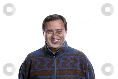 Happy stock photo, Happy casual man portrait in white background by Rui Vale de Sousa