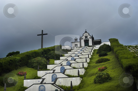Chapel stock photo, Chapel in the hill by Rui Vale de Sousa