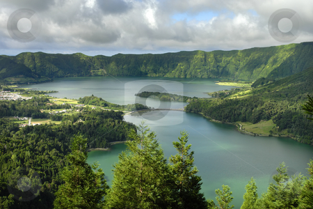 Azores stock photo, Azores seven lake in s miguel island by Rui Vale de Sousa