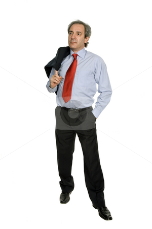 Business man isolated stock photo, Mature business man isolated on white background by Rui Vale de Sousa