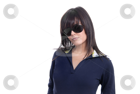 Posing stock photo, Young woman posing in white background in casual clothes by Rui Vale de Sousa
