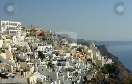 Santorini stock photo, View of Thira at the greek island of Santorini by Rui Vale de Sousa