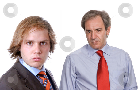 Team stock photo, Two business men portrait, focus on the left man by Rui Vale de Sousa