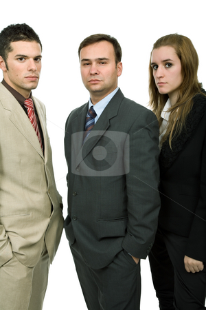 Team stock photo, Young business team, isolated on white background by Rui Vale de Sousa