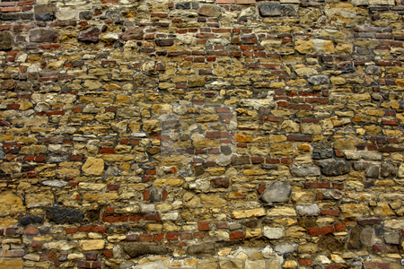 Wall stock photo, Abstract textures of stones in a wall in prague by Rui Vale de Sousa