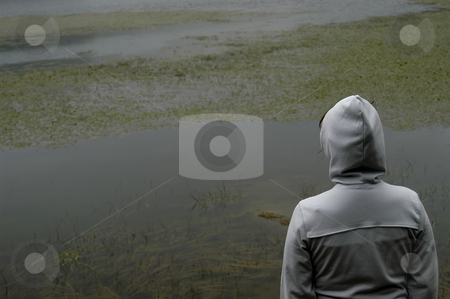 Back stock photo, Woman back in the lake by Rui Vale de Sousa