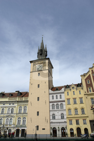 Buildings stock photo, Ancient prague buildings near the river vlatva by Rui Vale de Sousa