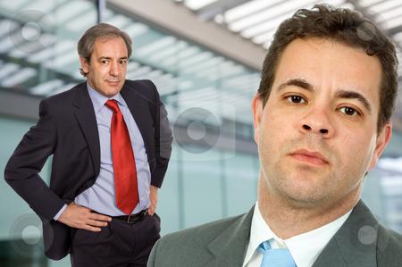 Standing stock photo, Two business men portrait in a office building by Rui Vale de Sousa