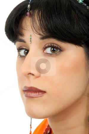 Woman stock photo, Young beautiful woman in a studio portrait by Rui Vale de Sousa