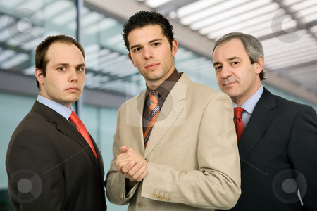 Team stock photo, Business team standing at the office building by Rui Vale de Sousa