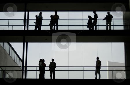 Sillhouette stock photo, Office people by Rui Vale de Sousa