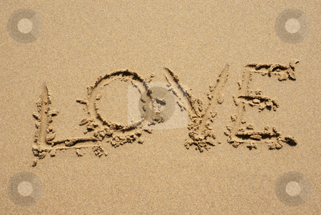Love stock photo, Love on the wet sand at the beach by Rui Vale de Sousa
