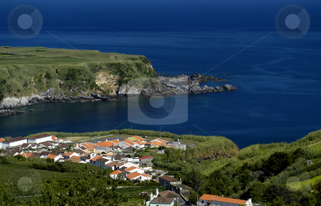 Village stock photo, Small village in the cost of azores island by Rui Vale de Sousa