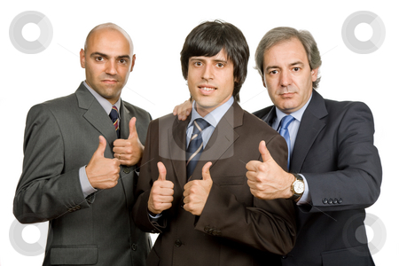 Team stock photo, Three young business men isolated on white by Rui Vale de Sousa