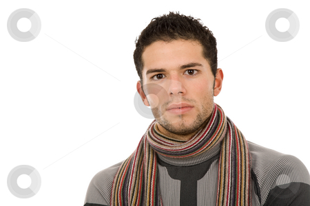 Young casual man stock photo, Young casual man portrait, isolated on white by Rui Vale de Sousa