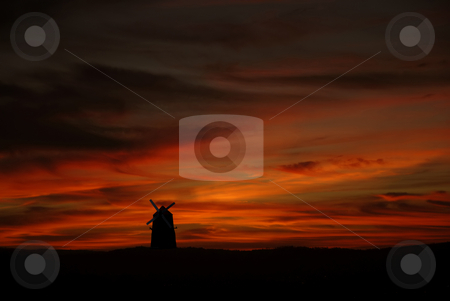 Windmill stock photo, Azores windmill at sunset in s miguel island by Rui Vale de Sousa