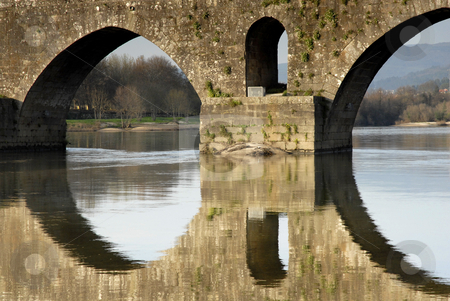 Bridge stock photo, Ancient roman bridge detail in the north of portugal by Rui Vale de Sousa