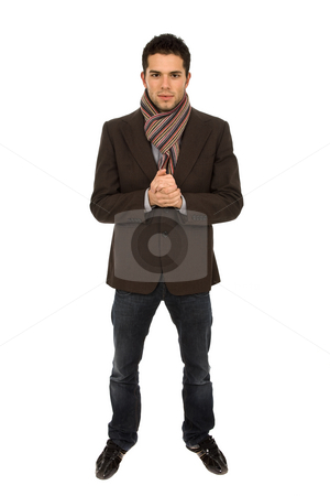 Young man stock photo, Casual young man full body, isolated on white by Rui Vale de Sousa