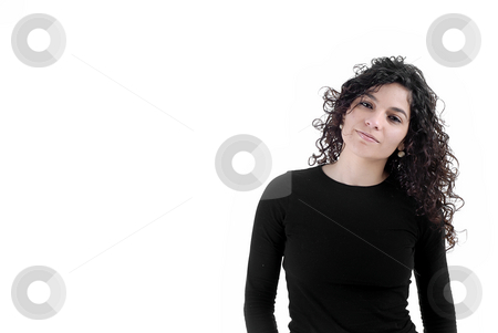 Young stock photo, Young woman model isolated on white background by Rui Vale de Sousa