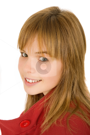 Blonde stock photo, Young casual blonde woman close up portrait by Rui Vale de Sousa
