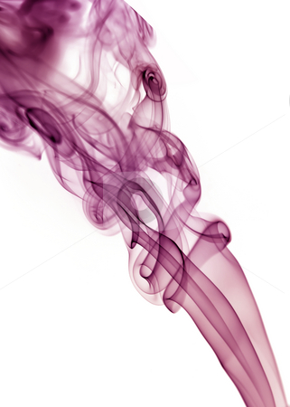 Smoke stock photo, Colored rays smoke abstract in white background by Rui Vale de Sousa