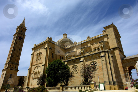 Church stock photo, Ancient church malta in the island of gozo by Rui Vale de Sousa