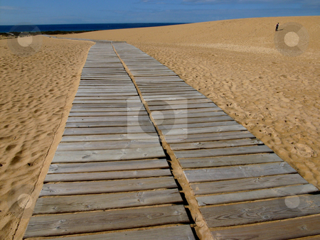 Path stock photo, Path in the sand by Rui Vale de Sousa