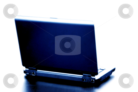 Computer stock photo, Blue toned personal computer isolated on white background by Rui Vale de Sousa