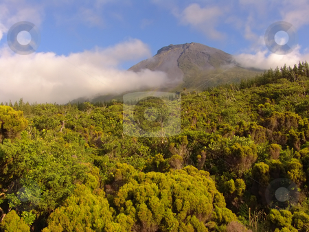 Pico stock photo, Pico mountain in azores by Rui Vale de Sousa