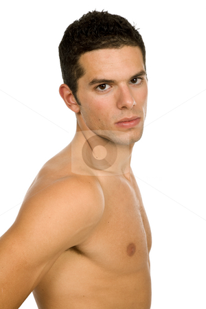 Naked stock photo, Young casual naked man isolated on white by Rui Vale de Sousa