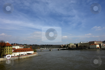 Prague stock photo, Prague old town, view of the river vltava by Rui Vale de Sousa