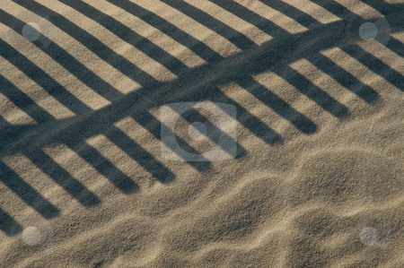 Fence stock photo, Fence on the beach by Rui Vale de Sousa