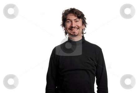 Silly stock photo, Young casual man portrait in white background by Rui Vale de Sousa