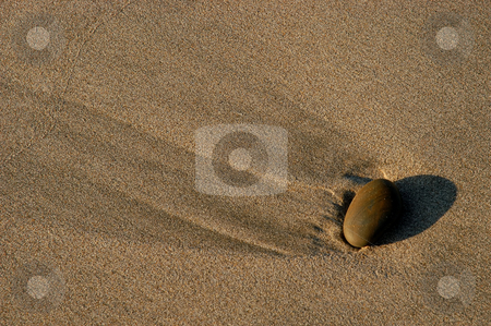 Stone stock photo, Stone on the sand by Rui Vale de Sousa